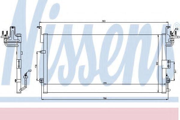 Радиатор кондиционера NISSENS 94775