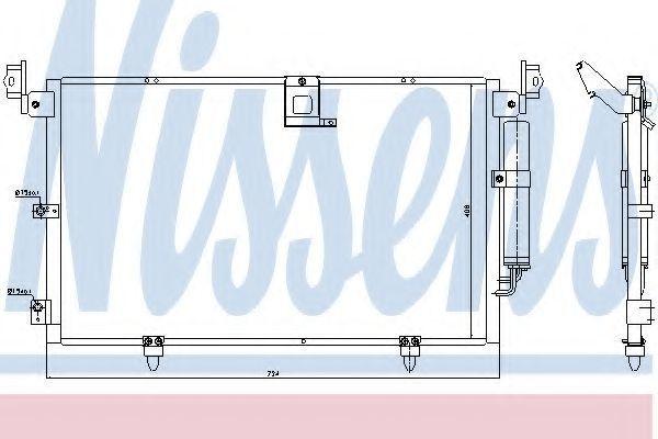 Радиатор кондиционера NISSENS 94789