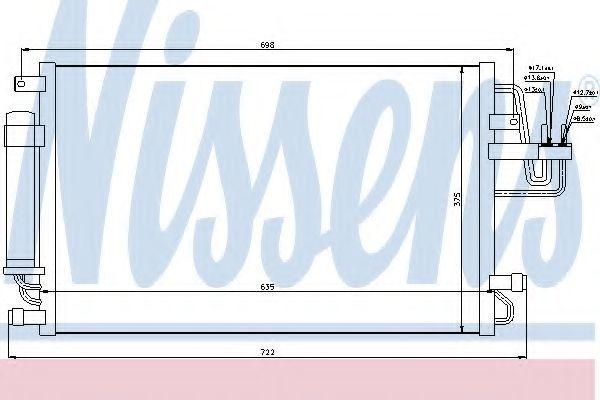 Радиатор кондиционера NISSENS 94801