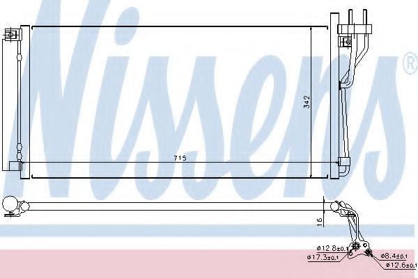 Радиатор кондиционера NISSENS 94804