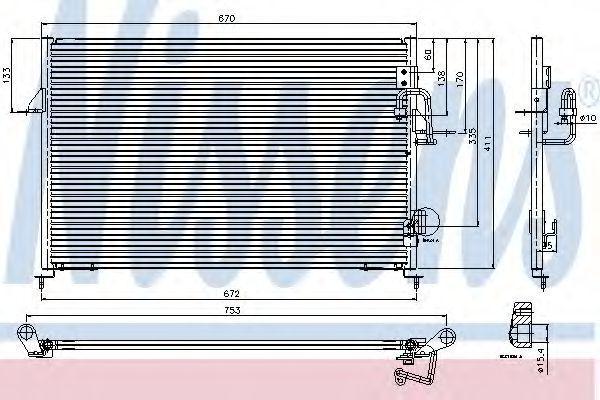 Радиатор кондиционера NISSENS 94808