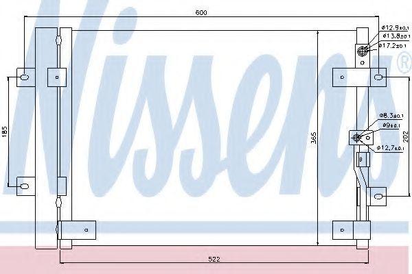 Радиатор кондиционера NISSENS 94821