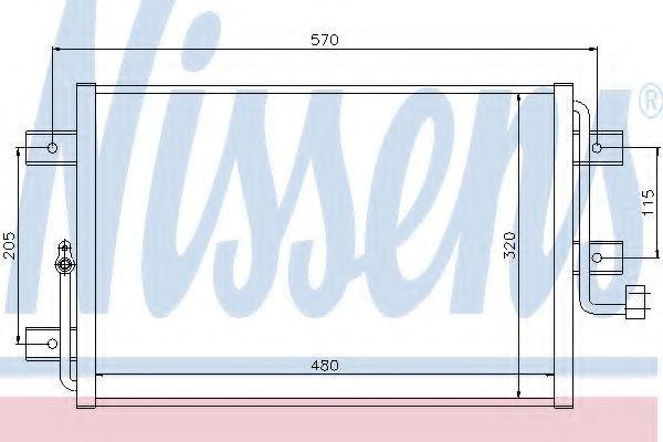 Радиатор кондиционера NISSENS 94825