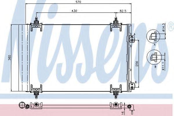 Радиатор кондиционера NISSENS 94826