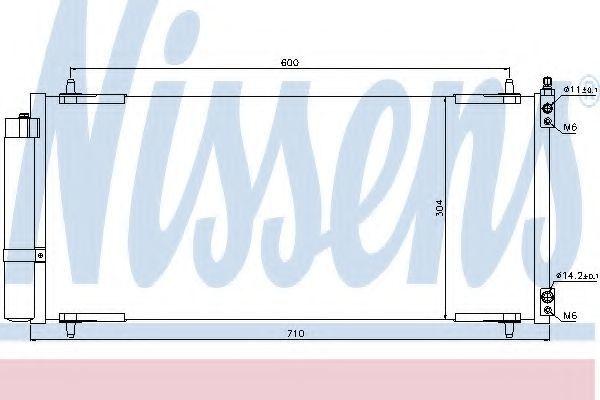 Радиатор кондиционера NISSENS 94830