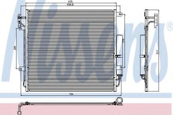 Радиатор кондиционера NISSENS 94839