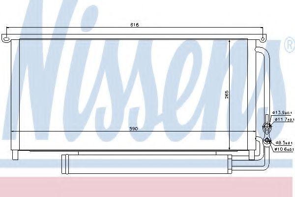 Радиатор кондиционера NISSENS 94840
