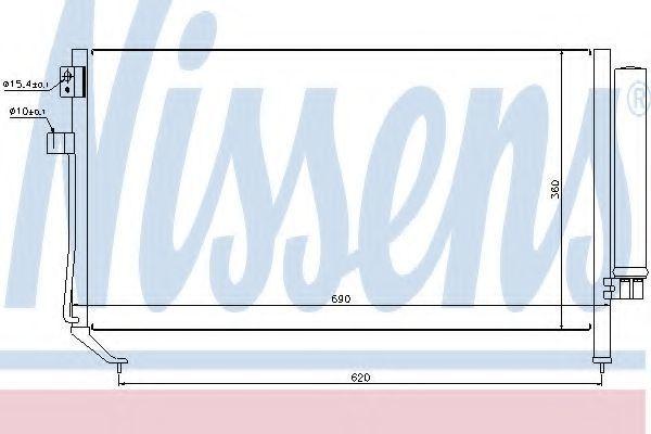 Радиатор кондиционера NISSENS 94848