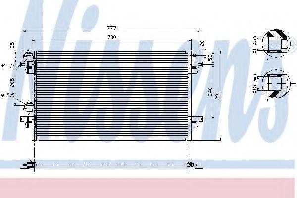 Радиатор кондиционера NISSENS 94856