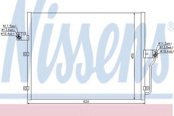Радиатор кондиционера NISSENS 94859
