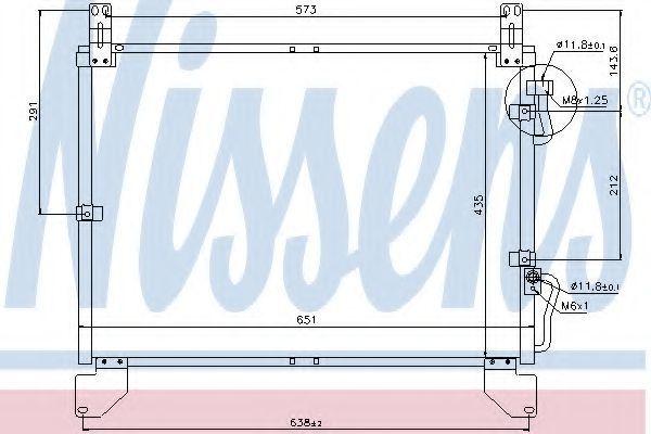 Радиатор кондиционера NISSENS 94861