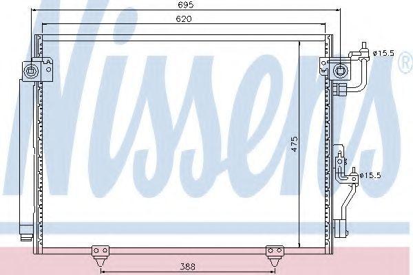 Радиатор кондиционера NISSENS 94864