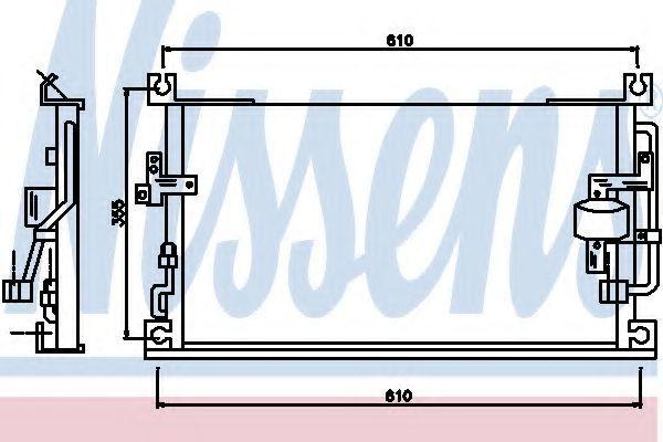 Радиатор кондиционера NISSENS 94865