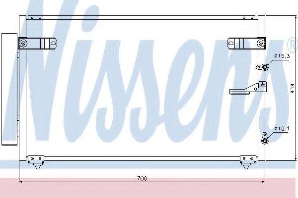 Конденсатор, кондиционер NISSENS 94867