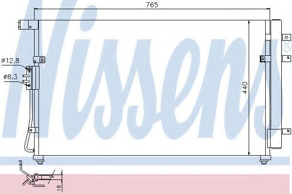 Радиатор кондиционера NISSENS 94868