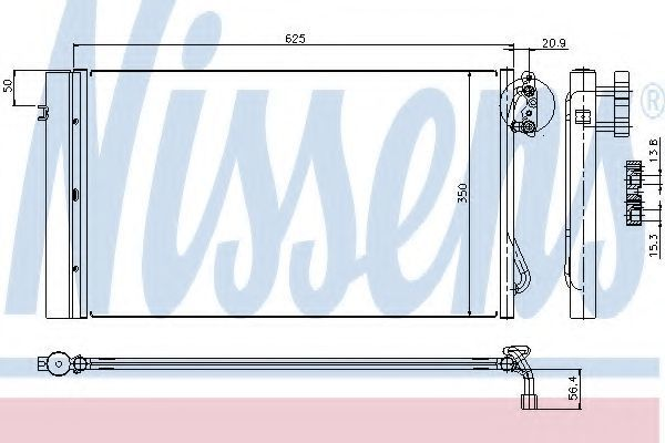 Радиатор кондиционера NISSENS 94873