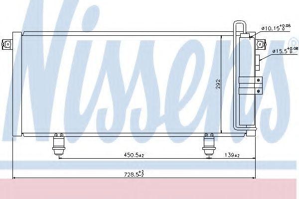 Радиатор кондиционера NISSENS 94876