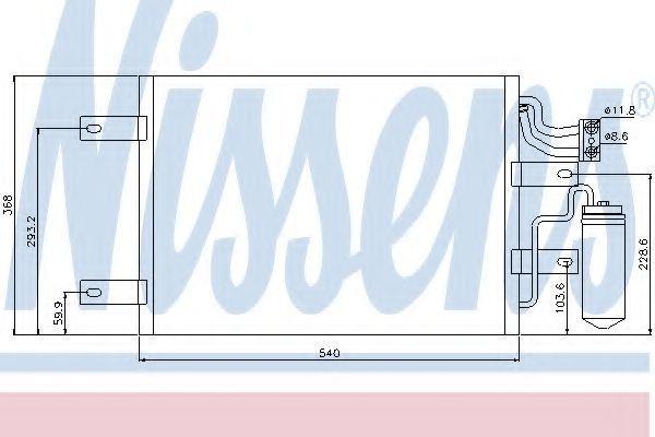 Радиатор кондиционера NISSENS 94882