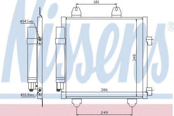 Радиатор кондиционера NISSENS 94891