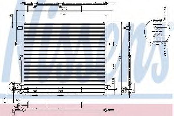 Радиатор кондиционера NISSENS 94897