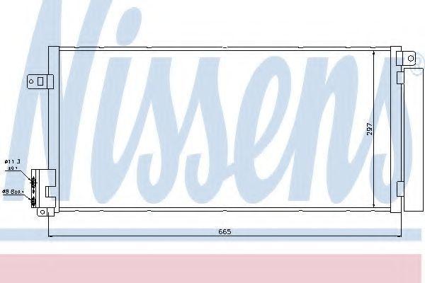 Радиатор кондиционера NISSENS 94899