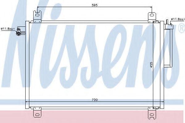Радиатор кондиционера NISSENS 94913