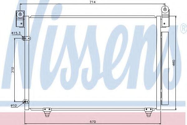 Радиатор кондиционера NISSENS 94933