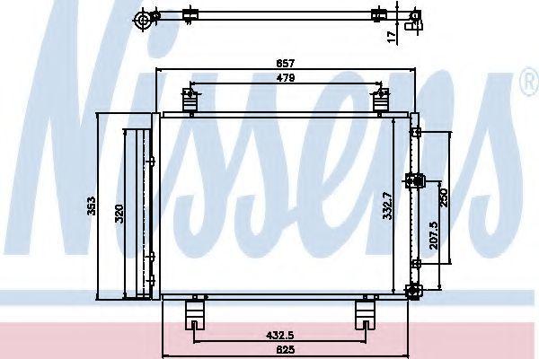 Радиатор кондиционера NISSENS 94950