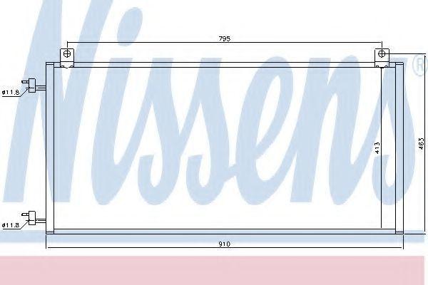 Радиатор кондиционера NISSENS 94967