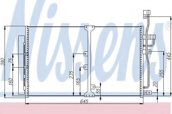 Радиатор кондиционера NISSENS 94977