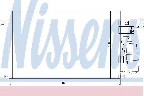 Радиатор кондиционера NISSENS 94978