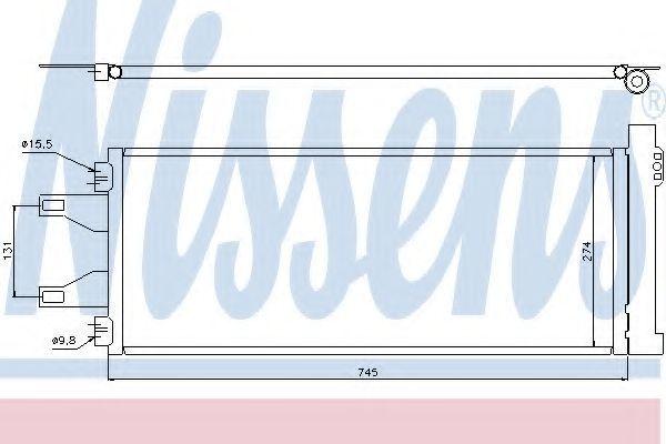 Радиатор кондиционера NISSENS 94986