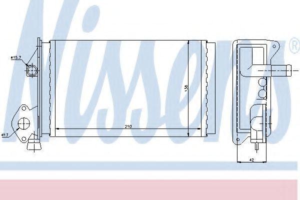 Радиатор отопителя салона NISSENS 73964