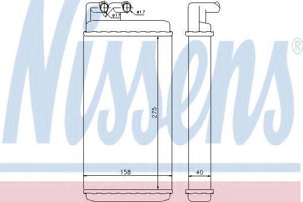 Радиатор отопителя салона NISSENS 70220