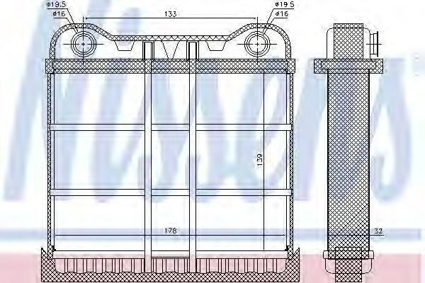 Радиатор отопителя салона NISSENS 70225