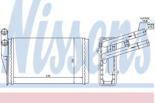 Радиатор отопителя салона NISSENS 70221