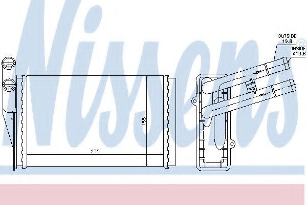 Радиатор отопителя салона NISSENS 70224