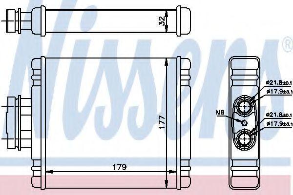 Радиатор отопителя салона NISSENS 73654