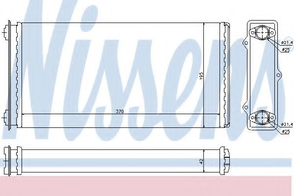 Радиатор отопителя салона NISSENS 71301