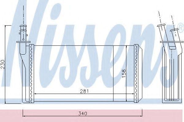 Купить Радиатор отопителя салона NISSENS 70016