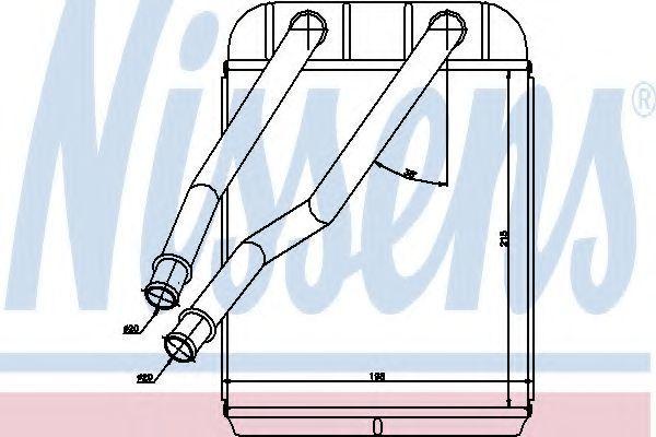 Радиатор отопителя салона NISSENS 73975