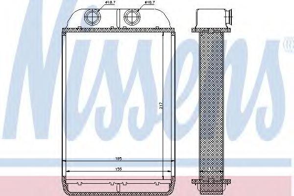 Радиатор отопителя салона NISSENS 70232