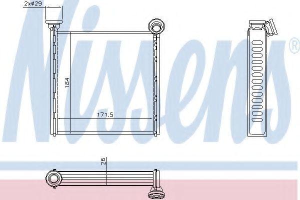 Радиатор отопителя салона NISSENS 73980