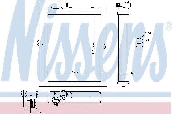 Радиатор отопителя салона NISSENS 70231