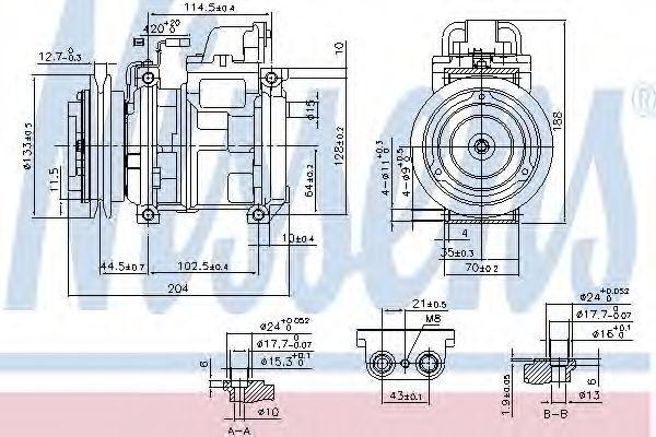 Компрессор кондиционера NISSENS 890028