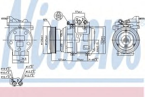Компрессор кондиционера NISSENS 890067