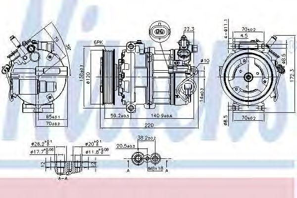Компрессор кондиционера NISSENS 890068