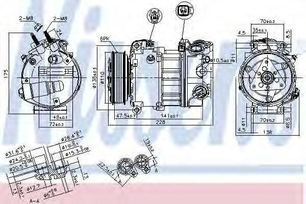 Компрессор кондиционера NISSENS 890124