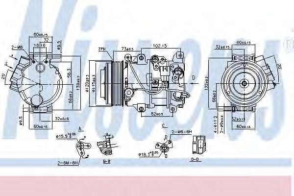 Компрессор кондиционера NISSENS 890141