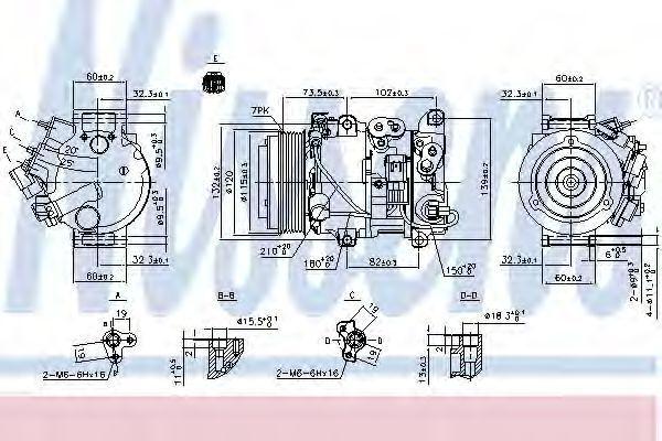 Компрессор, кондиционер NISSENS 890158